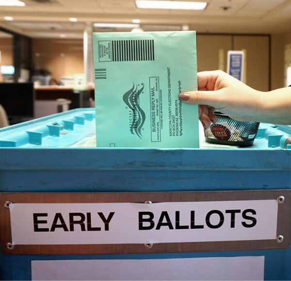 early ballot drop off